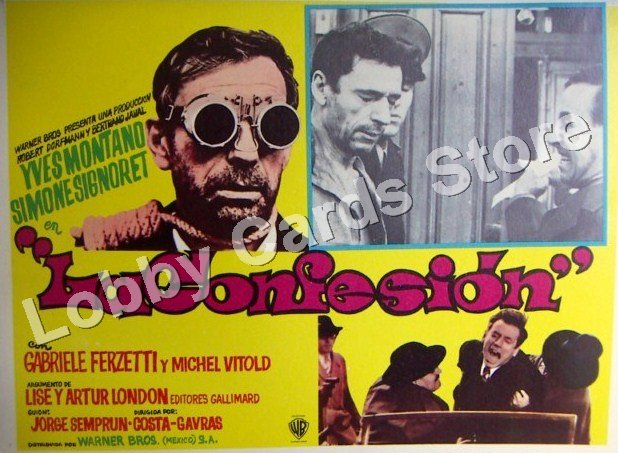 YVES MONTAND ./ SIMONE SIGNORET./ THE CONFESSION